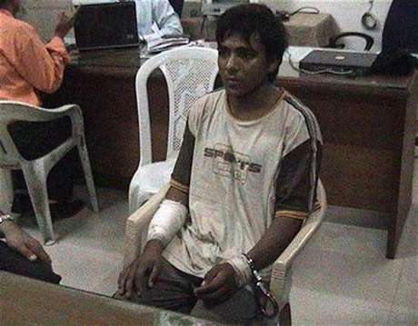 Mohammed Ajmal Kasab, the lone surviving member of the 10-man group which attacked several Mumbai landmarks, is seen at an undisclosed location under police custody in this undated video grab shown by CNN IBN Television channel since February 3, 2009.