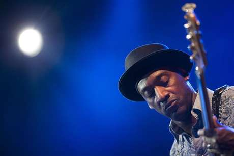 U.S. jazz bassist Marcus Miller performs onstage during the tribute to Miles Davis evening at the 45th Montreux Jazz Festival in Montreux July 13, 2011.