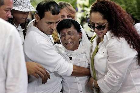 El servicio fúnebre se realizó una cancha de básquetbol en la sede del Departamento de Recreación y Deportes en la capital puertorriqueña.