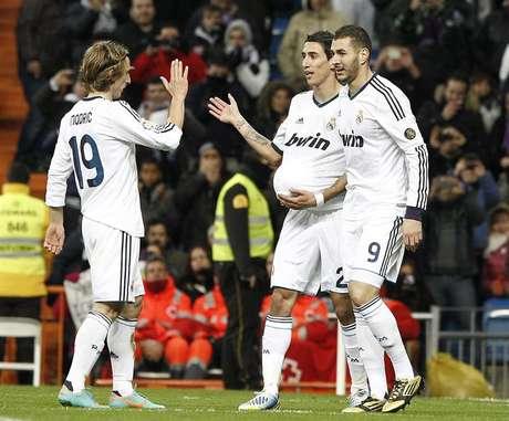 Con el ingreso de Di María, el Real pudo quebrar el cero y finalizó el encuentro con goleada 3-0.