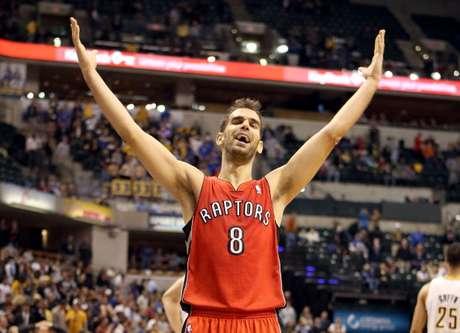 El base español de Toronto Raptors, José Manuel Calderón