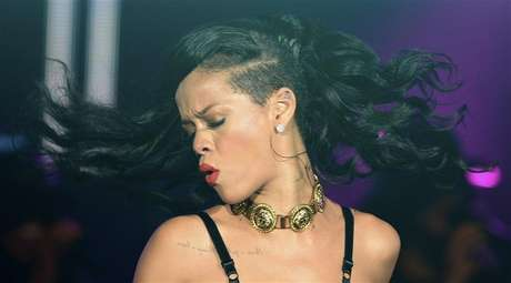 "Singer Rihanna performs at The Forum in Kentish Town in London November 19, 2012. Rihanna is in the UK to promote her latest album ""Unapologetic""."