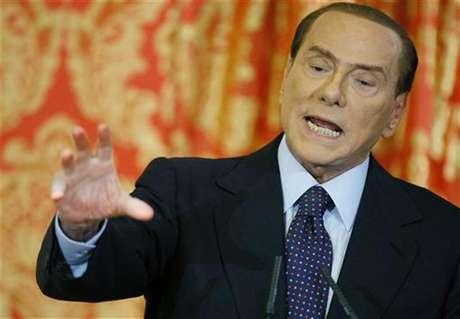 Foto de archivo del ex primer ministro de Italia, Silvio Berlusconi, durante una conferencia de prensa .