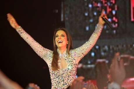 Ivete Sangalo empolgou o público de São Paulo na noite dessa sexta-feira (30)