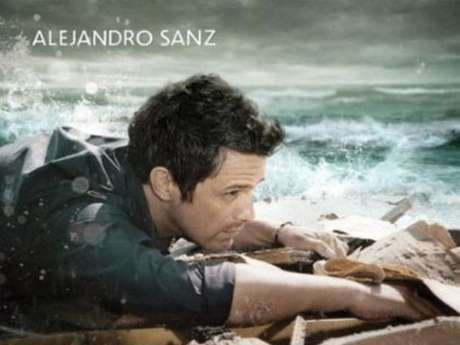 Alejandro Sanz na capa do disco 'La Música No Se Toca'