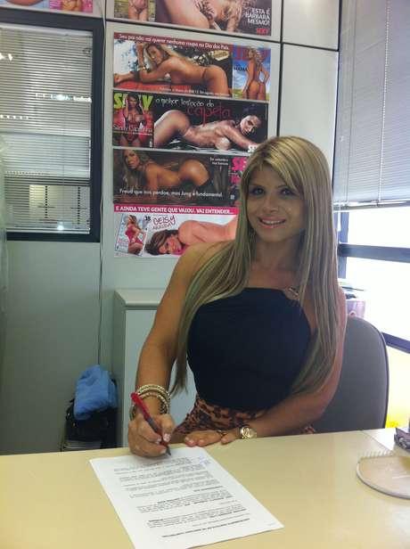 Carine Felizardo foi eleita Miss Bumbum na última sexta-feira (1º)