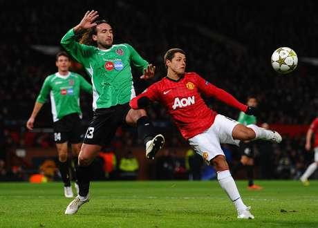 El mexicano, Javier Hernández, jugó todo el partido con el United.