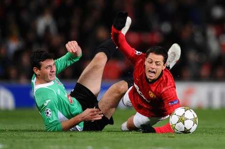 Javier Hernández jugó todo el partido pero se fue en blanco.