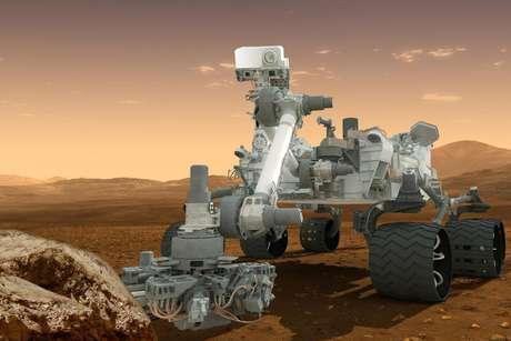 Concepción artística de la sonda rodante Curiosity en Marte. La NASA anunció el martes 4 de diciembre de 2012 que tiene planes para enviar en 2020 otra sonda similar a la Curiosity al planeta rojo, a un menor costo.