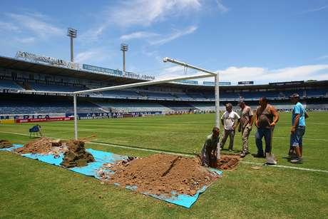 <p>Grêmio espera continuar treinando no Estádio Olímpico</p>