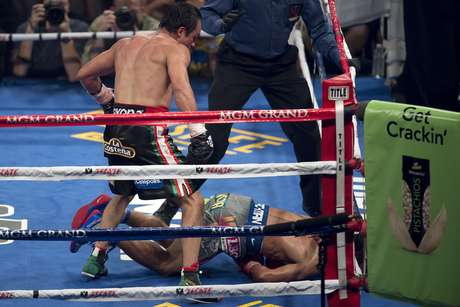 Juan Manuel Marquez shocked the boxing world by knocking out Paquiao in the sixth round.