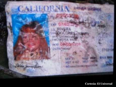 Esta es la licencia de manejo de Jenni Rivera de California, lo cual confirma su muerte