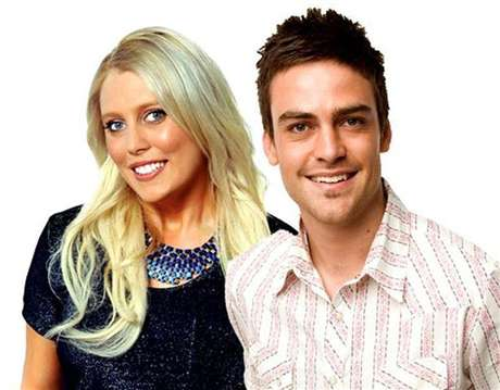 2day FM radio hosts Mel Greig (L) and Michael Christian, pose in Sydney in this picture obtained by Reuters on December 8, 2012.