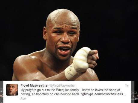 Floyd Mayweather tweeted this sympathetic statement about Manny Pacquiao in the wake of his knockout loss to Juan Manuel Marquez Saturday night.