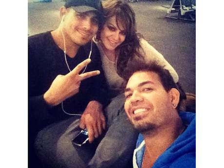 Jacob Llenares (far right) poses with Espinoza Paz and Jenni Rivera in this Facebook picture posted on December 3, 2012.