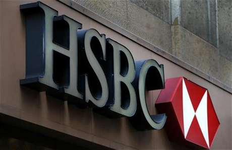 A sign is seen above the entrance to an HSBC bank branch in midtown Manhattan in New York City, December 11, 2012.