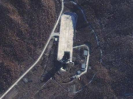 The Sohae Launch Facility in North Korea in seen in this November 23, 2012 satellite image courtesy of DigitalGlobe. North Korea launched a rocket on Wednesday and the missile appears to have passed over Okinawa, Japan's government said.