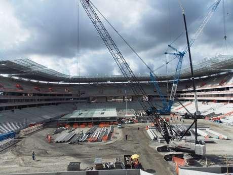 Expectativa é que 2012 termine com Arena Pernambuco 85% concluída