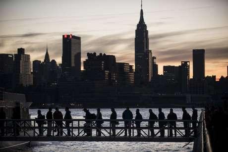 Manhattan, en Nueva York, queda sin luz eléctrica después del paso del huracán Sandy.