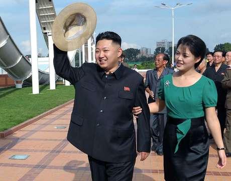 Kim Jong-un, durante passeio em parque de diversões de Pyongyang (foto de arquivo)