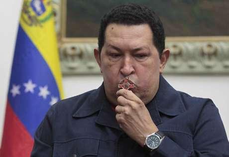 <p>O presidente venezuelanoHugo Chávez morreu nesta terça-feira</p>