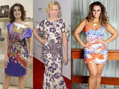 Foram algumas das celebridades que apostaram no vestido estampado