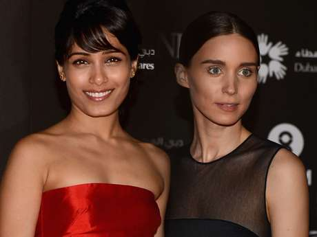 <strong>Freida Pinto</strong>and<strong>Rooney Mara</strong> shined at the 2012 Dubai International Film Festival.