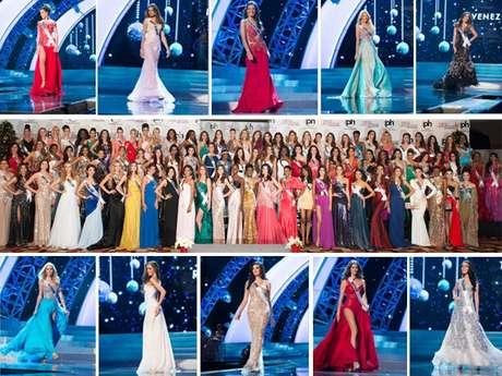 """Las 89 candidatas al certamen de Miss Universo <span id=""""result_box"""" lang=""""es""""><span class=""""hps"""">compitieron en traje</span><span class=""""hps"""">de noche</span>frente a los jurados, como parte de la agenda real prevista para las participantes. Aquí su deslumbrante presentación.</span>"""