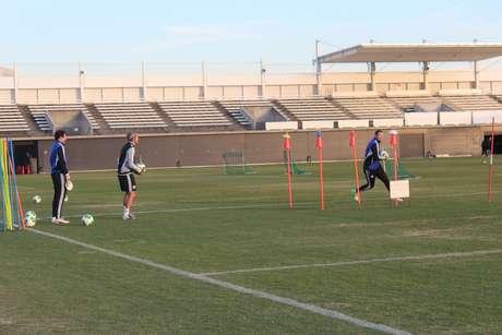 A atividade ocorreu no centro de treinamento do Yokohama Marinos, clube da J-League japonesa