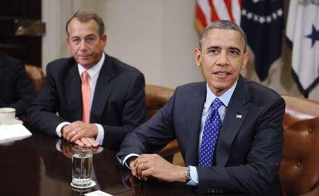 El líder republicano en el Congreso, John Boehner, y el presidente Barack Obama se reunieron esta mañana en la Casa Blanca.