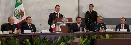El Presidente Enrique Peña Nieto durante la II Sesión Extraordinaria del Consejo Nacional de Seguridad Pública.