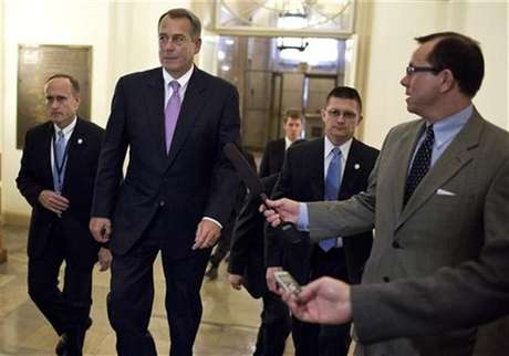 U.S. Speaker of the House of Representatives John Boehner (R-OH) walks to his office in the U.S. Capitol after meeting with U.S. President Barack Obama at the White House in Washington December 17, 2012.