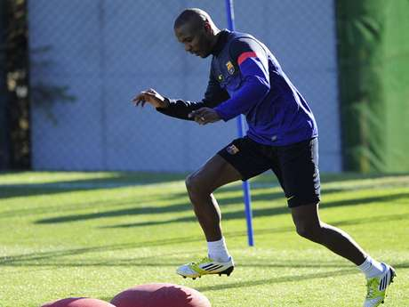 Months after a liver transplant, Eric Abidal has been cleared to play again for Barcelona.