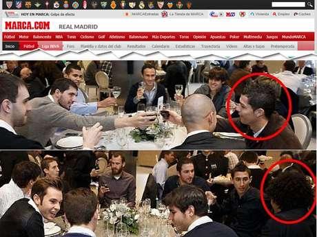 Em almoço de confraternização, Cristiano Ronaldo e Marcelo sentaram-se em mesas diferentes