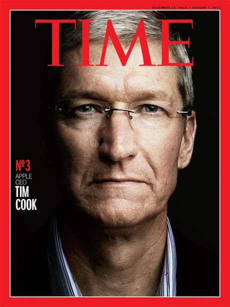 O CEO da Apple recebeu uma das capas alternativas da revista que elegeu as pessoas mais relevantes do ano