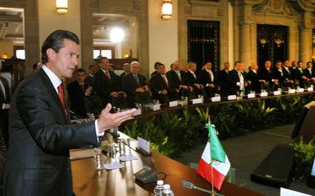 El presidente de México, Enrique Peña Nieto, durante el primer Consejo de Seguridad Nacional de su administración, en Ciudad de México.
