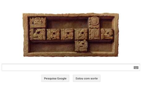 """Fim do calendário maia, ou """"maya"""", para o Google é homenageado em doodle nesta sexta-feira, 21 de dezembro, dia do """"fim do mundo"""""""