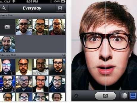 Con el filtro Everyday, el usuario puede crear autorretratos diarios y, después, hacer un video-montaje con las imágenes.<br />
