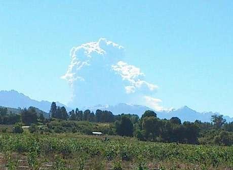 El volcán Copahue, en la Región del Biobío, entró en actividad.