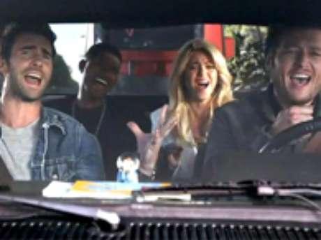 Shakira en un promo de The Voice