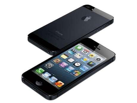 Apple iPhone 5: El nuevo modelo pesa un 20 por ciento menos que el anterior, es un 18 por ciento más delgado y cuenta con pantalla de 4 pulgadas. La saturación de los colores también mejoró, siendo un 44 por ciento superior a la del iPhone 4S.<br />
