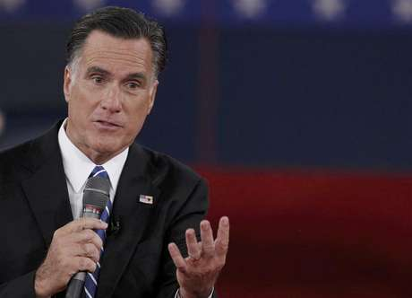 Republican presidential nominee Mitt Romney answers a question during the second U.S. presidential debate in Hempstead, New York, October 16, 2012.