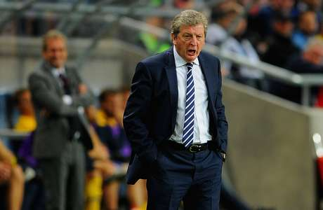 England manager Roy Hodgson looks on during the international friendly match between Sweden and England at the Friends Arena on November 14, 2012 in Stockholm, Sweden.