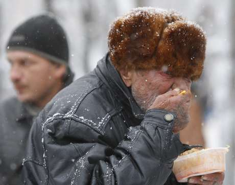 Fez fazia -17°C na capital russa na manhã desta terça-feira