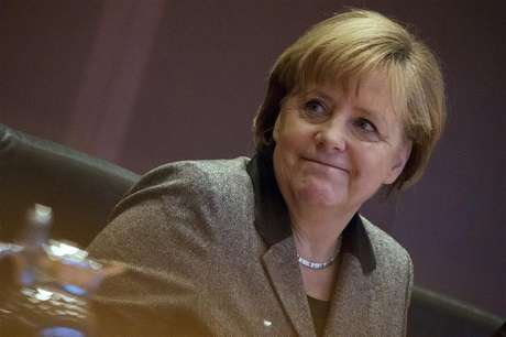 German Chancellor Angela Merkel attends a cabinet meeting at the Chancellery in Berlin December 19, 2012.