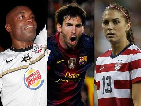 O site americano <i>Bleacher Report </i>escolheu os 100 melhores atletas no ano de 2012. A relação conta com dois brasileiros e nomes de diferentes modalidades. Confira a seguir quem entrou na lista da página dos EUA e quem foi o melhor
