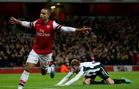 Walcott found the net three times in Arsenal's 7-3 win over Newcastle.