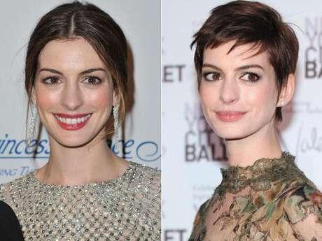 Anne Hathaway: conocida por los tradicionales cabellos largos, adoptó una medida radical para interpretar su personaje en Los Miserables.