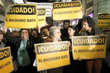 Imagen de una manifestación en Madrid en protesta por la violencia de género