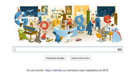 Véspera de Ano Novo 2012 foi celebrada pelo Google em doodle especial
